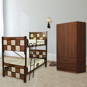 تخت دوطبقه شطرنجی
